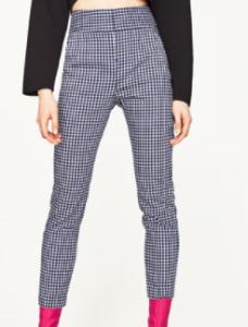 zara check pants