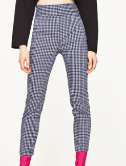 zara check pants