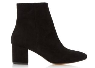 dune pebble block heel boots