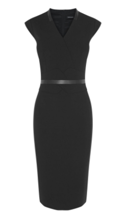 KM black waist bekt dress