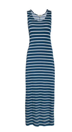 navy stripe maxi