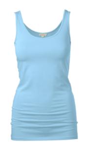 PALE blue vest