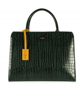 pauls boutique green croc skin bag
