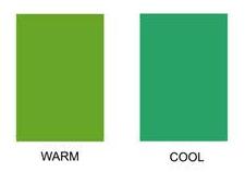 cool warm green