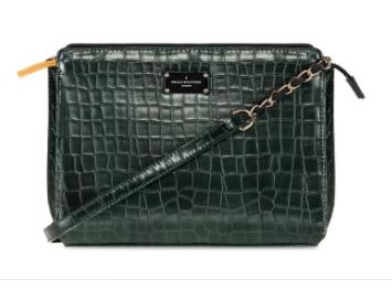 green croc skin satchel pauls