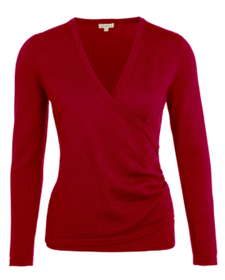 kettlewell crimson wrap top