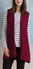 Kettlwell burgundy sleevless wrap