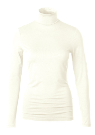soft white roll neck