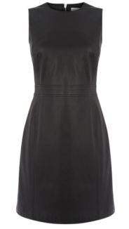 warehouse leather shift dress