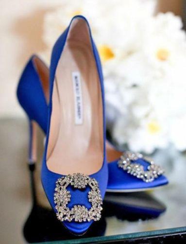 blue manolos