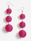fuschia earrings