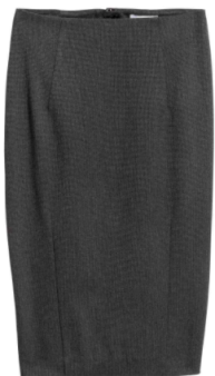 hm grey pencil skirt