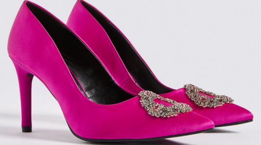 marksandspencer pink shoes