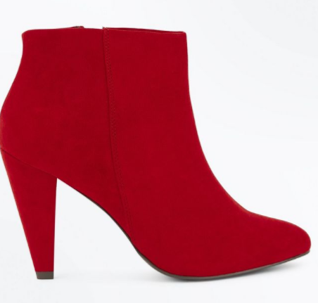 new look red boots