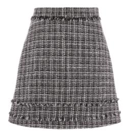 warehouse tweed skirt