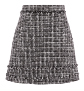 warehouse tweed skirt