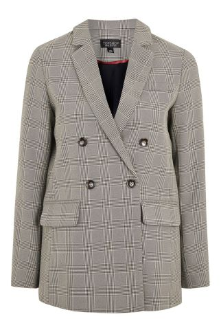 Topshop Check Blazer double breasted