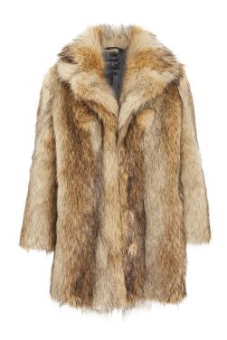 Topshop fur coat