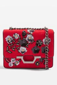 Topshop kylie red chain bag