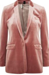 topshop pink velvet blazer