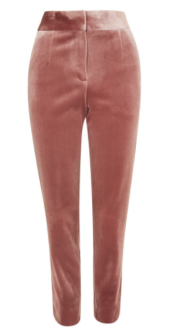 topshop pink velvet pants