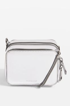 Topshop silver vinyl bag