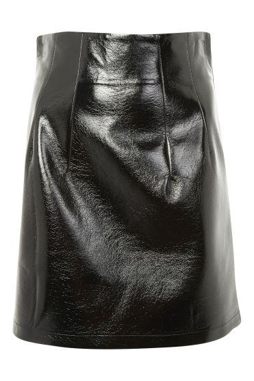 Topshop Vinyl pelmet skirt
