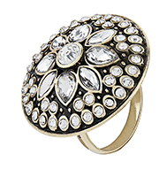 crystal statement ring accessorize