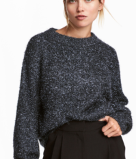hm dark blue glitter jumper