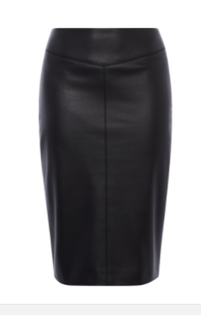km leather pencil skirt