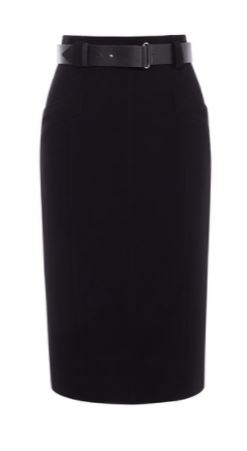 km belted pencil skirt