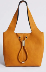 m&s ochre hobo bag