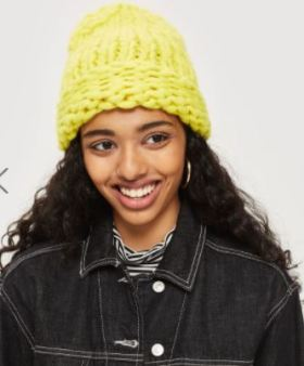 neon hat girl