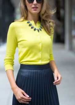 neon yellow cardy outfit mary orton
