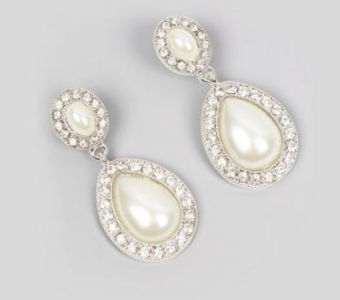 pearl drop earrings new look