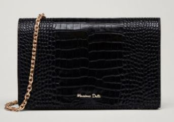 black croc skin chain bag Massimo