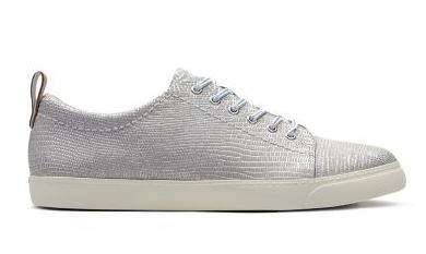 clarks silver trainers