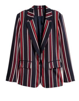 hm striped blazer 2018