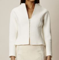 tailored ivory blazer short km