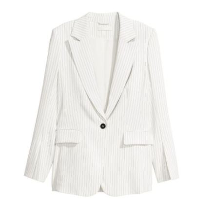 white stripe blazer HM