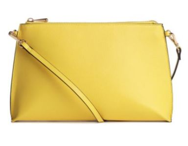 yellow hm bag