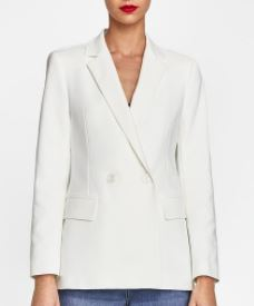 zara white double breasted blazer