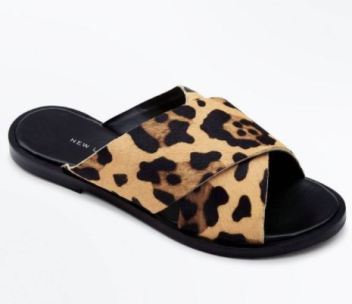 brown leopard sandals new look