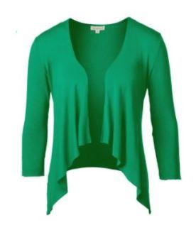 emerald short cascade cardigan