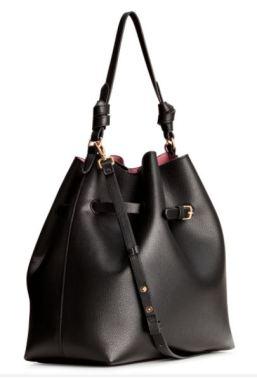 hm black hobo bag