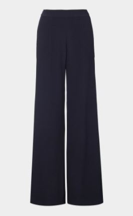 navy wide leg trousers winser