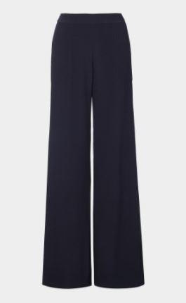 navy wide leg trousers winser