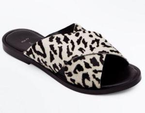 new look leopard print flat sandals