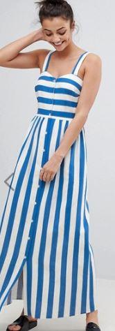 asos blue stripe tall