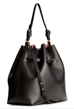 hm black hobo bag